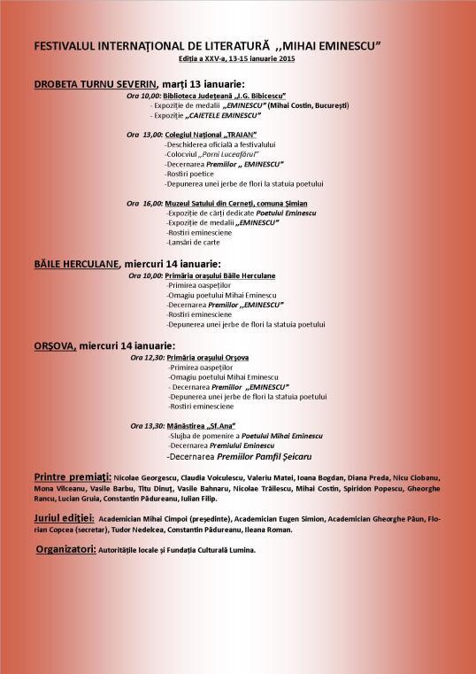 Festivalul International de Literatură Drobeta Turnu Severin